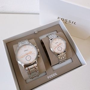 Fossil Couple Watch Gift Set